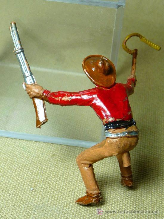 Figuras de Goma y PVC: FIGURA DE GOMA, CARRETA, COW BOY, FABRICADO POR COMANSI, 1960s, - Foto 5 - 20648558