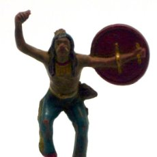 Figuras de Goma y PVC: JEFE INDIO A PIE REAMSA GOMA AÑOS 50. Lote 20657279