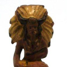 Figuras de Goma y PVC: JEFE INDIO SENTADO DE REAMSA GOMA AÑOS 50. Lote 20668921