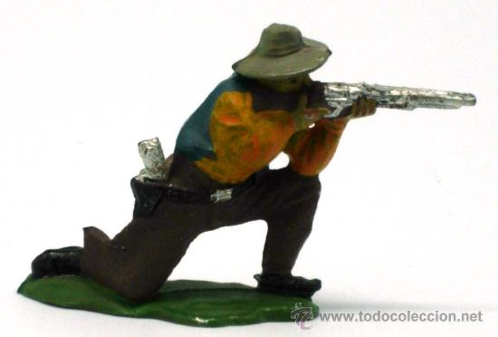 VAQUERO RODILLAS REAMSA GOMA AÑOS 50 (Juguetes - Figuras de Goma y Pvc - Reamsa y Gomarsa)