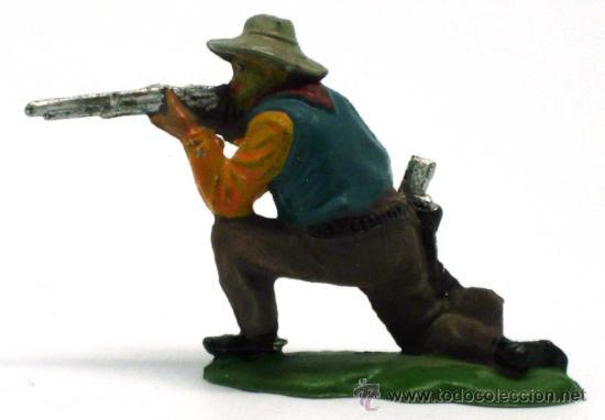 Figuras de Goma y PVC: Vaquero rodillas Reamsa goma años 50 - Foto 2 - 20669295