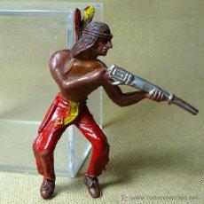 Figuras de Goma y PVC: FIGURA DE PLASTICO, INDIO, FABRICADO POR COMANSI, 1970S, . Lote 20894065