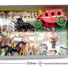 Figuras de Goma y PVC: SOTORRES,CAJA CON DILIGENCIA + EN SU CAJA ORIGINAL COMPLETA L.REF.2826. Lote 105775135