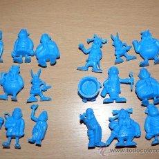 Figuras de Goma y PVC: ASTERIX Y OBELIX LOTE 4 BOLSAS CON 36 FIGURAS PLASTICO DUNKIN AÑOS 80. Lote 240382980