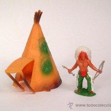 Figuras de Goma y PVC: SOTORRES ,INDIO ARCO+TIENDA COMANSI CON AVANCE.REF.2866. Lote 26116729