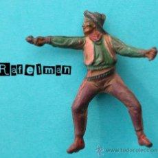 Figuras de Goma y PVC: PECH SERIE OESTE - FIGURA EN GOMA - COWBOY DISPARANDO. Lote 27456585