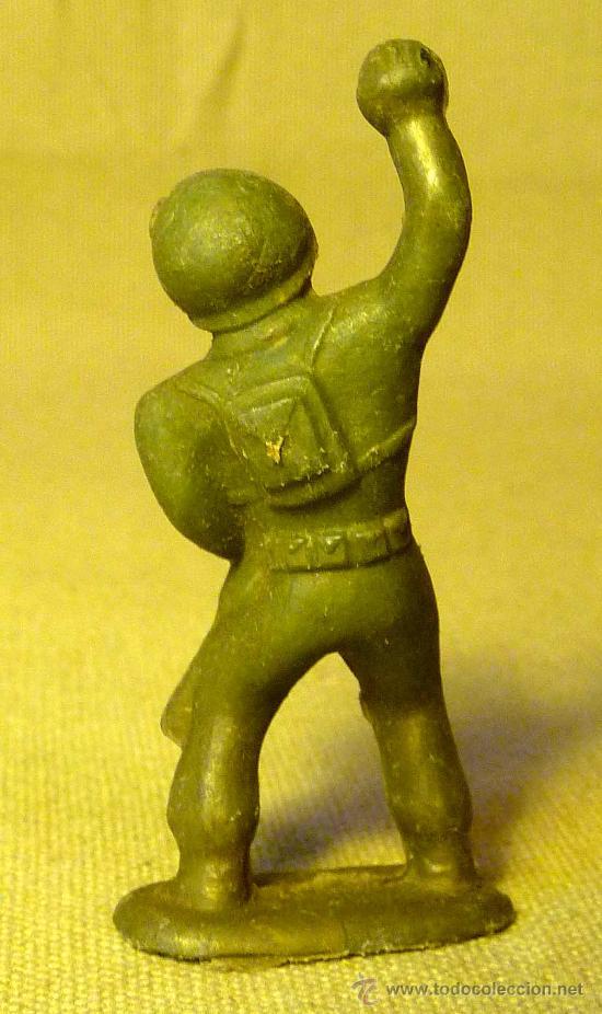 Figuras de Goma y PVC: RARA FIGURA DE PLASTICO, PIPERO ?, SOLDADO AMERICANO, WW2, NO MAIRZA, 1960s - Foto 2 - 22536149
