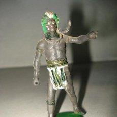 Figuras de Borracha e PVC: GUERRERO AFRICANO NEGRO DE GAMA ARTICULADO CINTURA DE GOMA AÑO 1950S. .. Lote 23087593