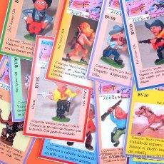Figuras de Goma y PVC: PRECIOSAS FICHAS CLASIFICATORIAS SERIE BOYBIS COW BOYS, DE JECSAN.. Lote 260790525