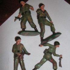 Figuras de Borracha e PVC: LOTE DE 9 SOLDADOS STARLUX CON FALTAS MUY BARATOS. Lote 24064573