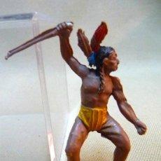 Figuras de Goma y PVC: FIGURA DE GOMA, INDIO A CABALLO, FABRICADO POR PECH, 1950S. Lote 24142824