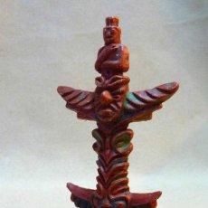 Figuras de Goma y PVC: COMPLEMANTO FIGURA DE PLASTICO, TOTEM INDIO, BRITAINS, INGLATERRA. Lote 25032565
