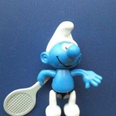 Figuras de Goma y PVC: FIGURA PITUFO DE PLASTICO ARTICULADA - MAC DONALDS. Lote 26062920