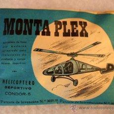 Figuras de Goma y PVC: MONTAPLEX - HELICOPTERO CONDOR 5 - SOBRE AZUL ORIGINAL - AÑOS 60 VENTA EN KIOSCOS DE LA EPOCA. Lote 262264995