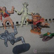 Figuras de Goma y PVC: LOTE 5 VAQUEROS. Lote 25092492