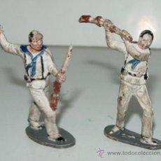 Figuras de Goma y PVC: 2 ANTIGUAS FIGURAS DE MARINEROS - PECH - TAL COMO SE VEN EN LA FOTOGRAFIA. Lote 25650163