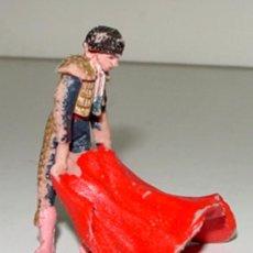 Figuras de Goma y PVC: ANTIGUA FIGURA DE TORERO - TEXIDIDO - FIESTA DE TOROS - TAL COMO SE VE EN LA FOTOGRAFIA - TAL COMO S. Lote 25653559