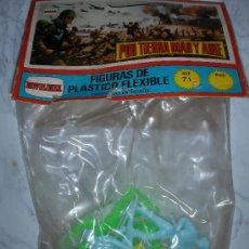 Figuras de Goma y PVC: BLISTER POR TIERRA, MAR Y AIRE FIGURAS DE PLASTICO FLEXIBLES NOVOLINEA NUEVO. Lote 25812533