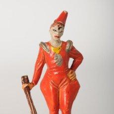 Figuras de Goma y PVC: PAYASO. EL LISTO, SUJETANDO UNA MANDOLINA EN LA MANO DERECHA DEL CIRCO DE JECSAN, GOMA, AÑOS 50. Lote 25897307