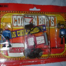 Figuras de Goma y PVC: BLISTER COMAN BOYS DE COMANSI SET GASOLINERA CON FIGURAS. Lote 25907441