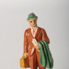 Figuras de Goma y PVC: FIGURA FERROVIARIA DE PECH, GOMA, AÑOS 60. Lote 25907664
