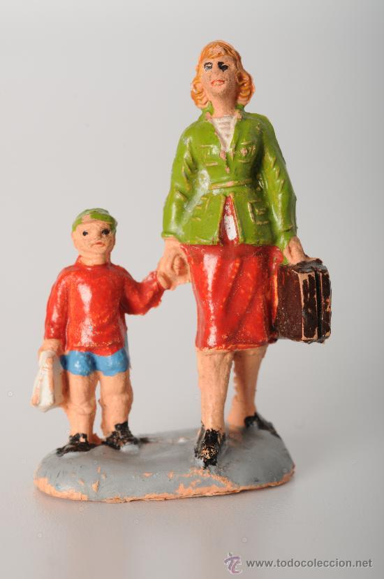 FIGURA FERROVIARIA DE PECH, GOMA, AÑOS 60 (Juguetes - Figuras de Goma y Pvc - Pech)