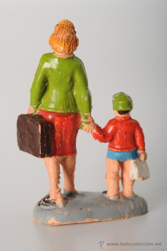 Figuras de Goma y PVC: Figura ferroviaria de Pech, goma, años 60 - Foto 2 - 25907687