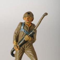 Figuras de Goma y PVC: SOLDADO AMERICANO, DE JECSAN, GOMA, AÑOS 50. Lote 26133784