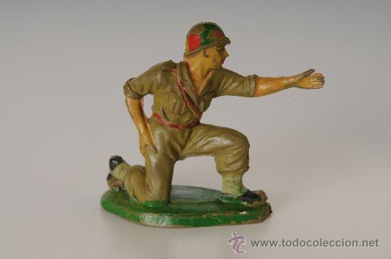 SOLDADO AMERICANO, DE PECH HNOS, GOMA, AÑOS 50 (Juguetes - Figuras de Goma y Pvc - Pech)