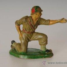 Figuras de Goma y PVC: SOLDADO AMERICANO, DE PECH HNOS, GOMA, AÑOS 50. Lote 26133922