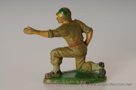 Figuras de Goma y PVC: Soldado Americano, de Pech Hnos, goma, años 50 - Foto 2 - 26133922