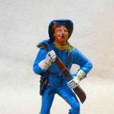 Figuras de Goma y PVC: FIGURA DE PLASTICO, SOLDADO YANKEE, 7º, SEPTIMO, FABRICADO POR JECSAN. Lote 26224982