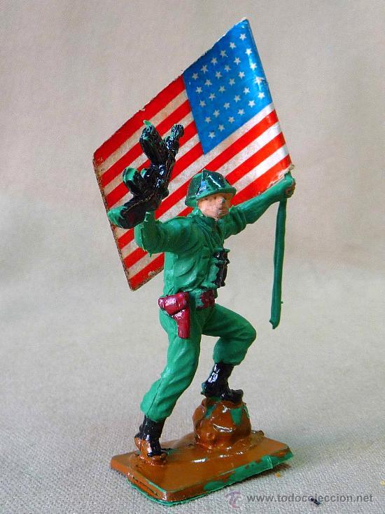Figuras de Goma y PVC: FIGURA DE PLASTICO, PECH HERMANOS, SOLDADO AMERICANO, SERIE AMERICANOS EN COMBATE, MARINE - Foto 3 - 26187615