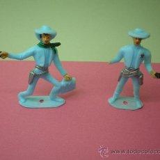 Figuras de Goma y PVC: 2 FIGURAS VAQUEROS COMANSI OESTE AMERICANO. Lote 27638414