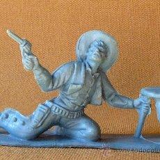 Figuras de Goma y PVC: FIGURA DE PLASTICO, DE QUIOSCO O PIPERO, VAQUERO CON BANQUETA. Lote 26367056