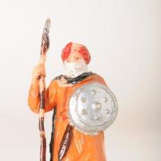 Figuras de Goma y PVC: FIGURA DE LA GUARDIA MORA DE BEN YUSUF CON LANZA Y ESCUDO, DE JECSAN, GOMA/ESTEREOPLAST, AÑOS 50. Lote 26437011