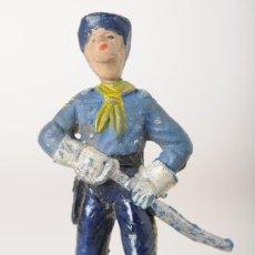 Figuras de Goma y PVC: FIGURA DE GOMA, OFICIAL YANKEE, SERIE DESCABEZADOS, JECSAN, AÑOS 50. Lote 26491493