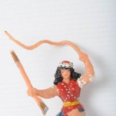Figuras de Goma y PVC: FIGURA DE PLASTICO, ESTEREOPLAST, SANKARA, SERIE COSACO VERDE.. Lote 26512591