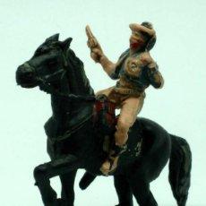 Figuras de Goma y PVC: VAQUERO A CABALLO PECH EN PLÁSTICO AÑOS 60. Lote 26546926