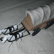 Figuras de Goma y PVC: ANTIGUA CARRETA CON CABALLOS. Lote 26826806