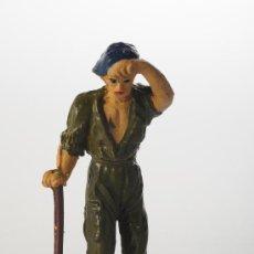 Figuras de Goma y PVC: FIGURA DE GOMA, JECSAN, PRISIONEROS DEL PUENTE SOBRE EL RIO KWAI, ORIGINAL AÑOS 50. Lote 26978749