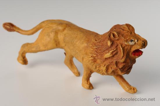 LEÓN EN GOMA, PECH, REAMSA, JECSAN, AÑOS 50 (Juguetes - Figuras de Goma y Pvc - Pech)