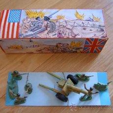 Figuras de Goma y PVC: CAJA Nº1 DE SOLDADITOS PECH CON ARTILLERIA - POSIBLEMENTE AÑOS 60/70. Lote 26995901