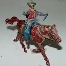 Figuras de Goma y PVC: ANTIGUA FIGURA DE COW BOY A CABALLO - TAL COMO SE VE EN LA FOTO.. Lote 26999505