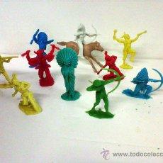 Figuras de Goma y PVC: 10 FIGURAS DE INDIO DE REAMSA O GOMARSA. Lote 27004204