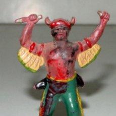 Figuras de Goma y PVC: ANTIGUA FIGURA DE INDIO DEL OESTE - TAL COMO SE VE EN LA FOTO.. Lote 27004618