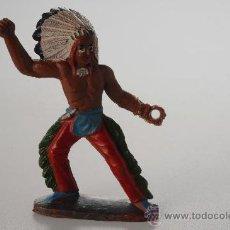 Figuras de Goma y PVC: FIGURA INDIO, GOMA, SOTORRES, AÑOS 50. Lote 27021068