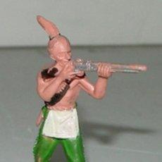 Figuras de Goma y PVC: ANTIGUA FIGURA DE INDIO DEL OESTE - TEIXIDO, ..TAL COMO SE VE EN LA FOTO. . Lote 27021544