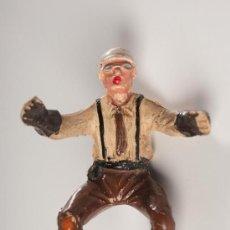 Figuras de Goma y PVC: FIGURA DE MOTORISTA, SERIE GUARDIAS TRÁFICO, EN GOMA, DE JECSAN, AÑOS 1950. Lote 27145589