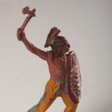Figuras de Goma y PVC: FIGURA DE INDIO EN GOMA, PECH HNOS, AÑOS 1950. Lote 27147136